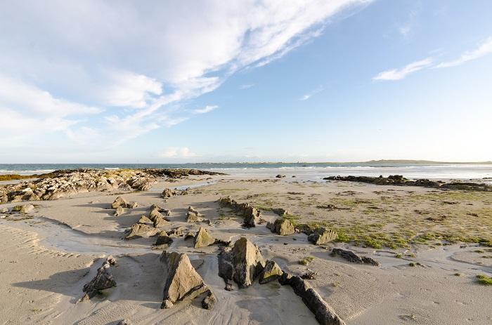 Rocks on the beach at Gott Bay, Tiree, Scotland.