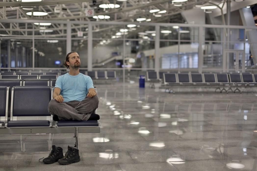 Man stranded at airport