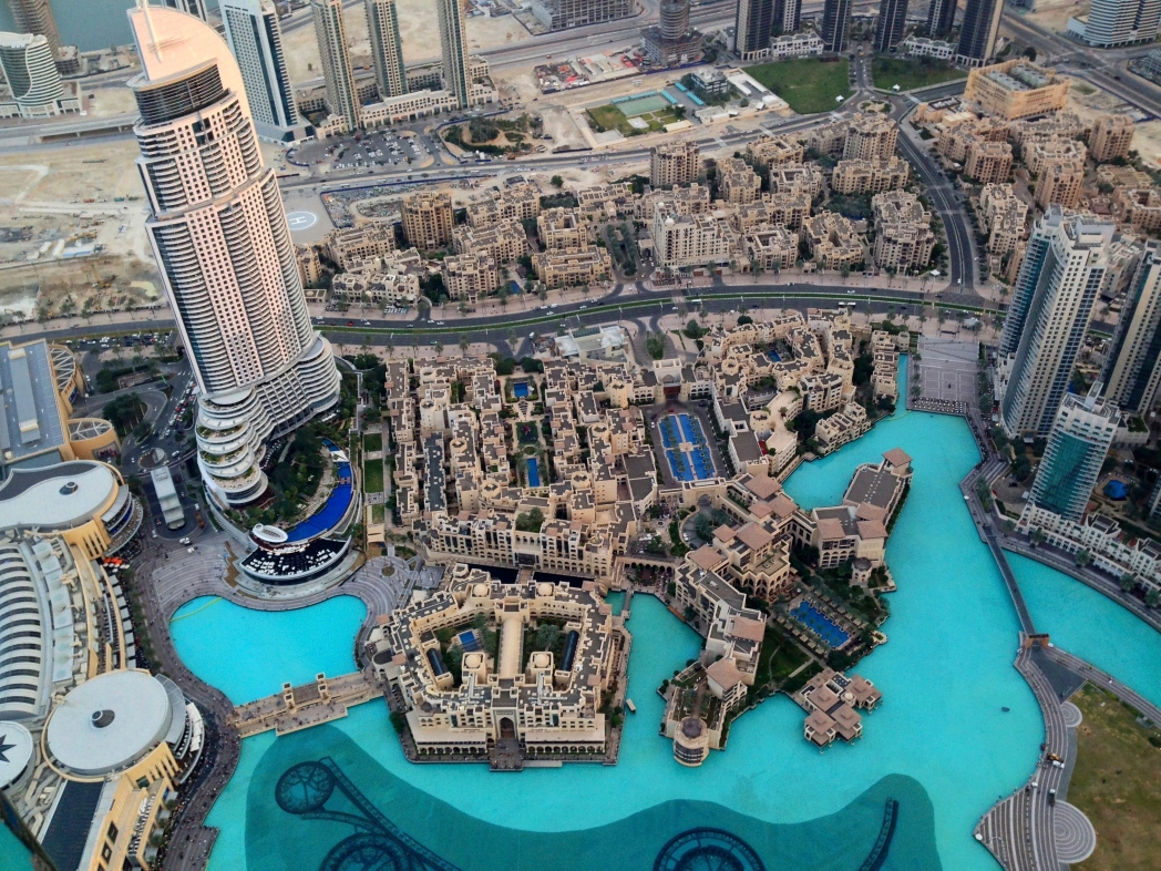 View from the Burj Khalifa, Dubai