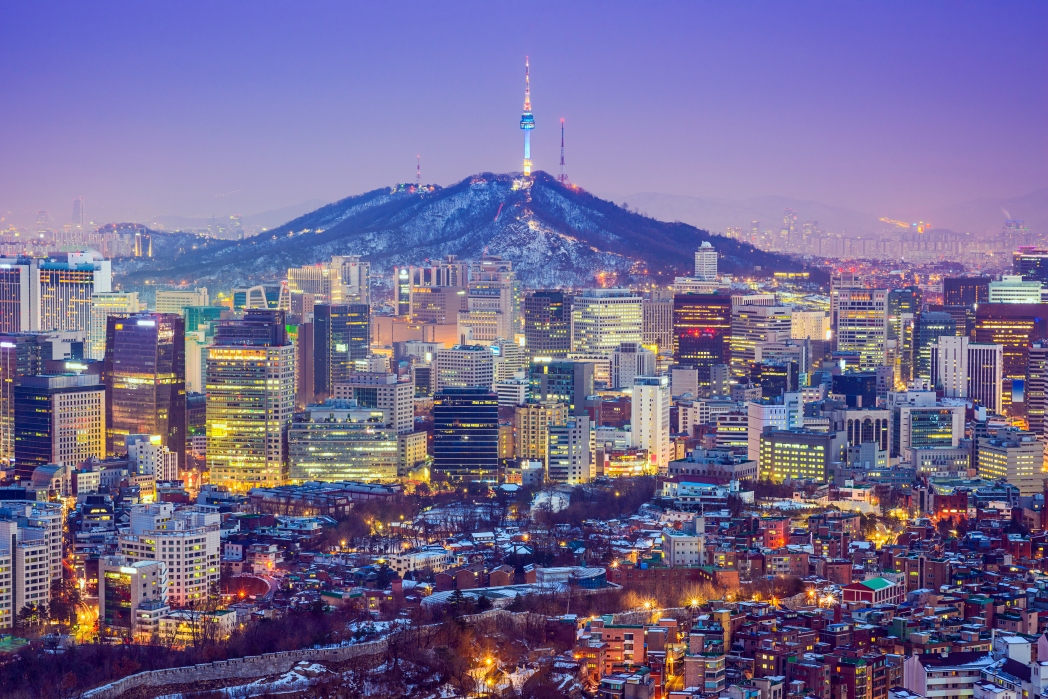 Seoul, with Namsan Mountain in background