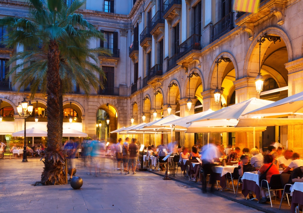 Café in the Gothic Quarter of Barcelona