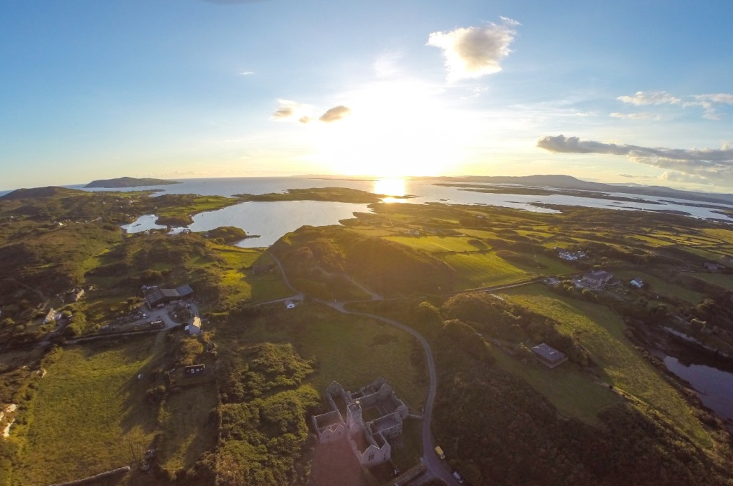 Aerial view, Sherkin Island, Ireland
