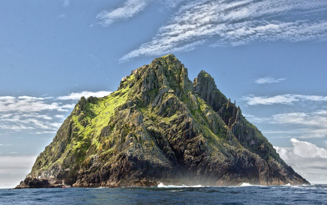 View of Little Skellig from Skellig Michael, Ireland