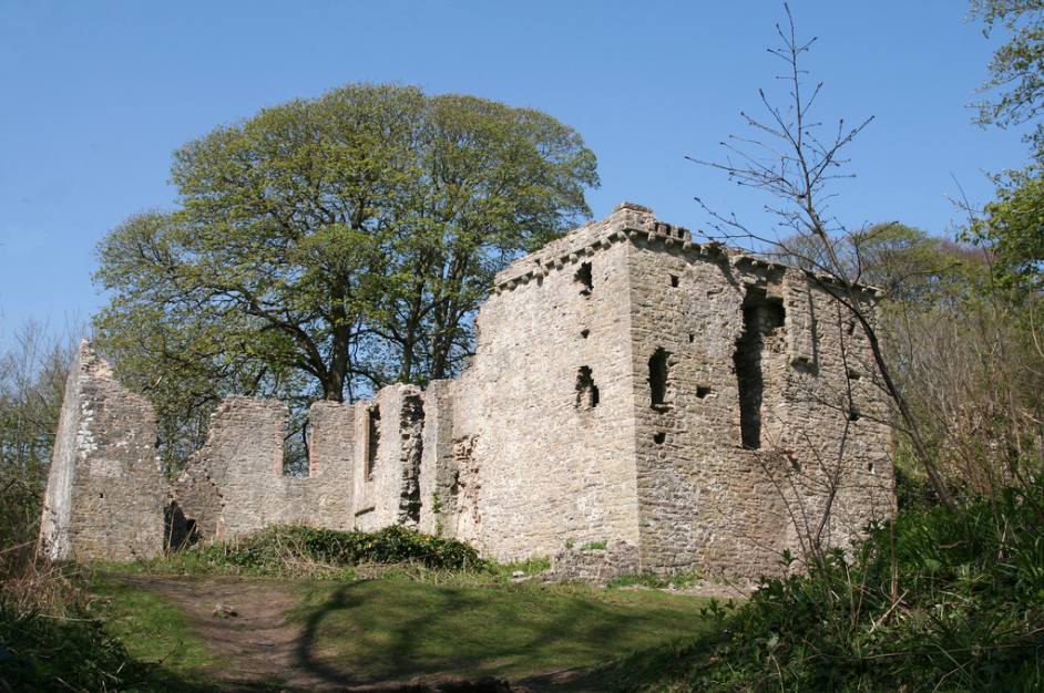 The ruins of Candleston Castle