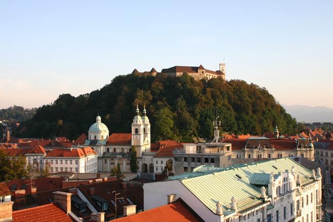 View across rooftops, Ljubljana, Slovenia.