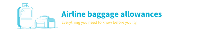 Airline baggage allowances and information from Skyscanner