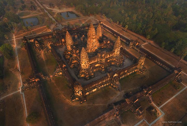 Angkor Wat temple, aerial view