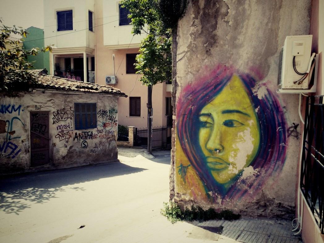 Street art in Ano Poli, Thessaloniki