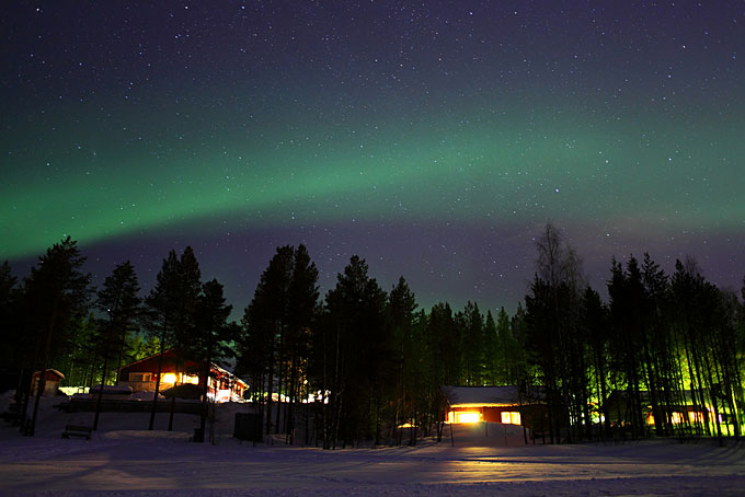 Lights up: Lapland is one of the best places in the world to see the Aurora.