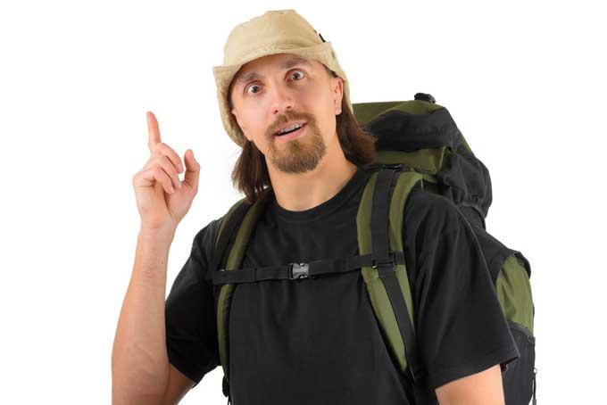 male backpacker