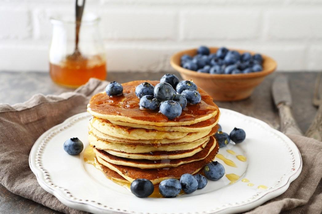 Blueberry pancakes for brunch