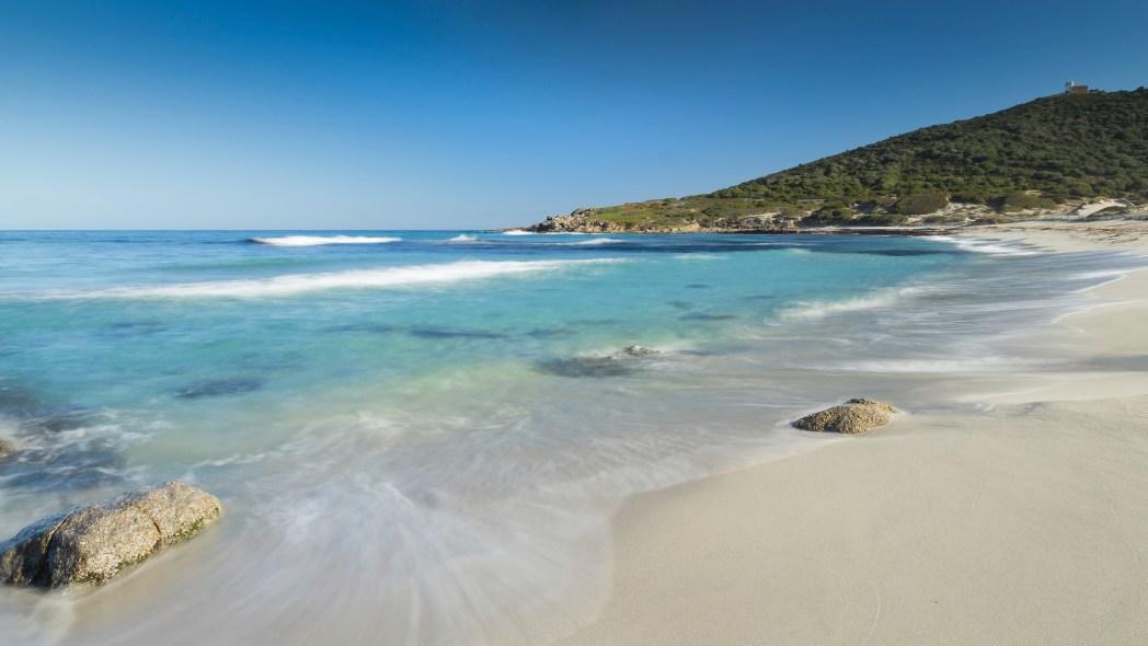 Bodri Beach in Corsica
