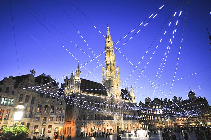 Christmas market in Brussels' Grand Place