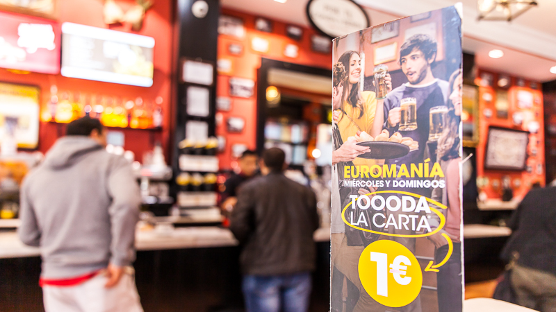 Feast for cheap at 100 Montaditos