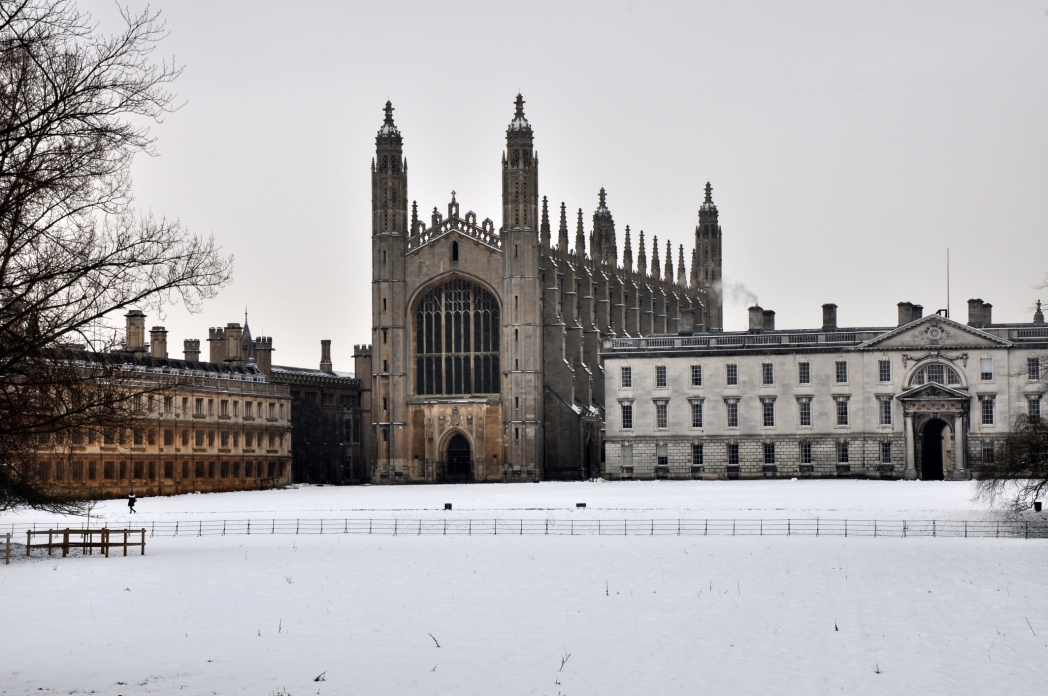 King's College Cambridge in the snow