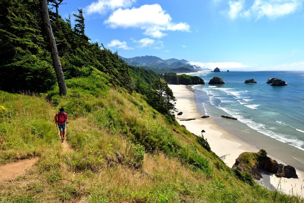 Cannon Beach is a beautiful beach in Oregon