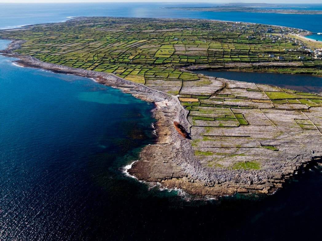 Aerial view, Inishmore, Ireland