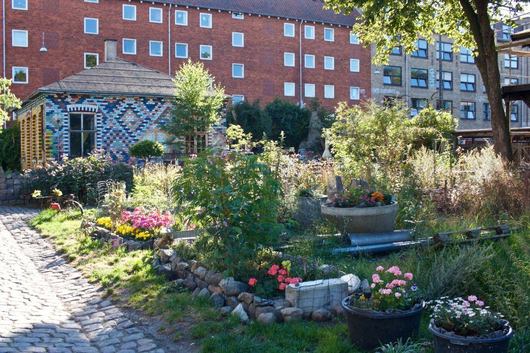 House and garden in Christiania, Copenhagen