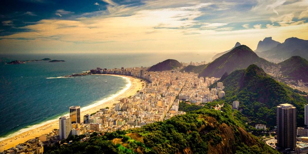 Copacabana beach in Rio de Janeiro.