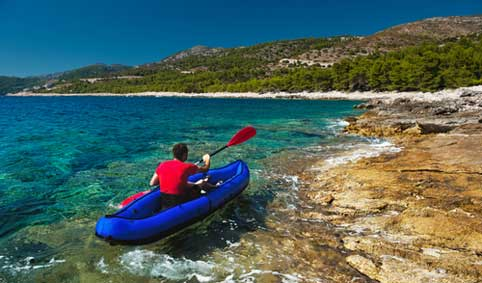 sea kayaking, Hvar, Croatia