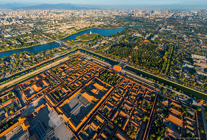 The Forbidden City, aerial view, Beijing
