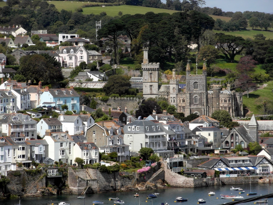 Fowey harbour view