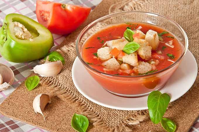 Gazpacho soup.