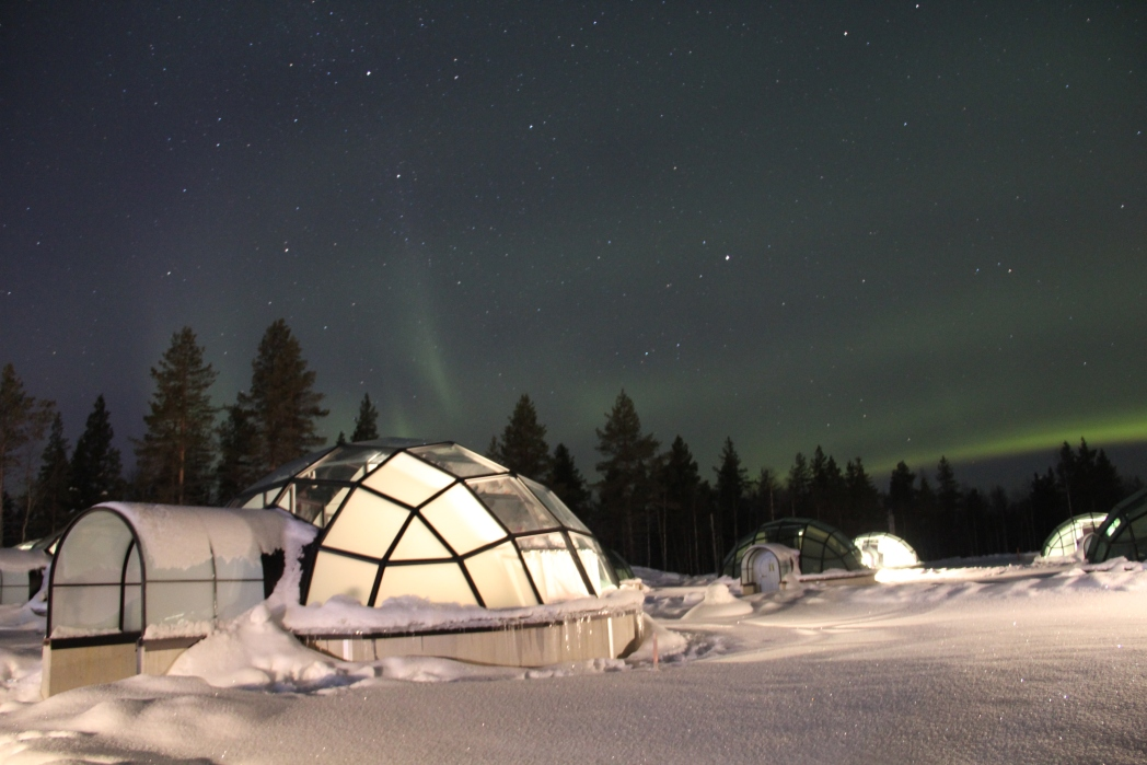 Glass igloo, Lapland