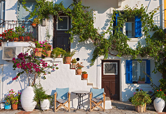 White-washed houses in Greece.