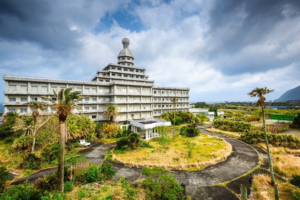 The supposedly haunted Hachijo Royal Hotel