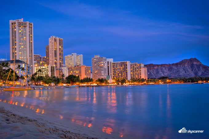 Waikiki Beach, Hotels, Hawaii