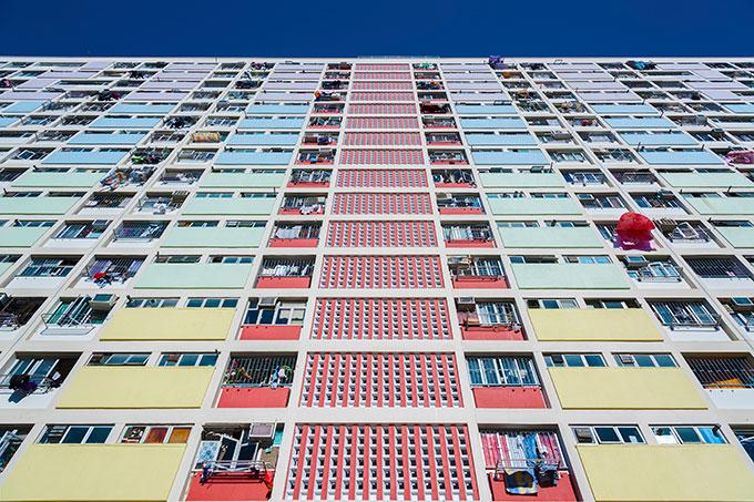 High rise flats in Hong Kong.