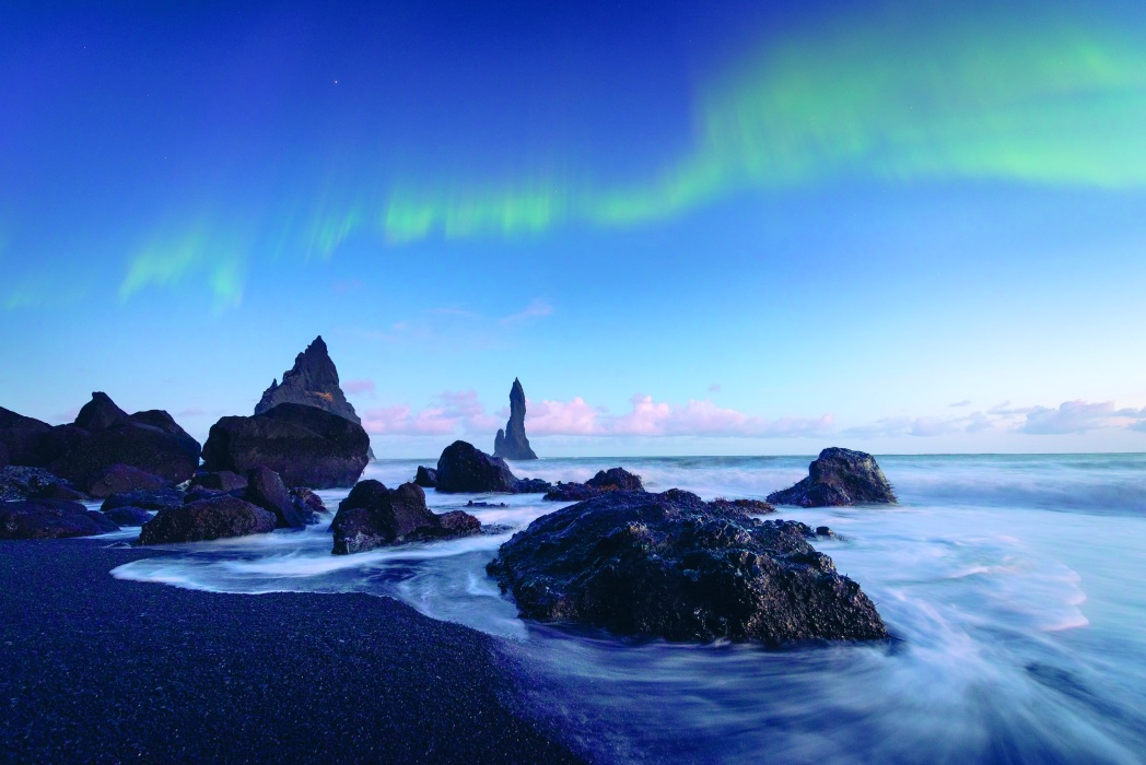Vik Beach, one of many volcanic beaches in Iceland