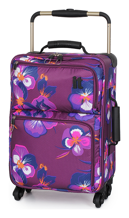 da816f060 IT Luggage model 'World's Lightest' in purple floral pattern known as  Oriental