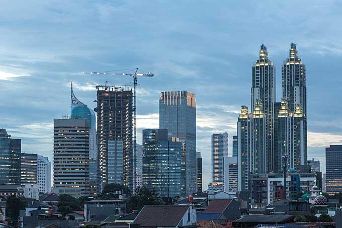 Jakarta cityscape around Jalan Thamrin
