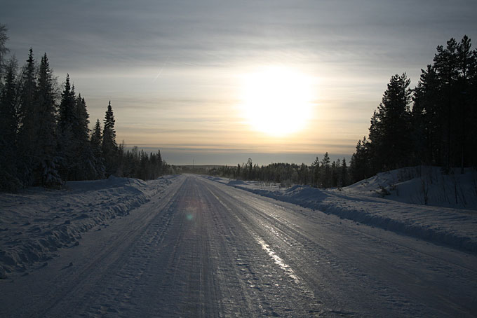 snowy road, Sweden
