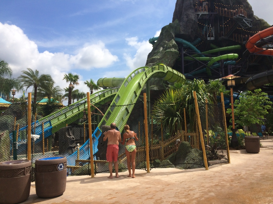 The Krakatau Aqua Coaster can be found at Volcano Bay, Orlando's best water park