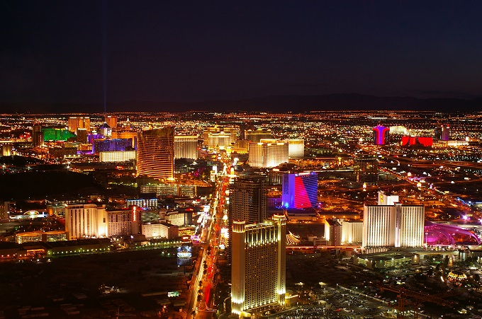 Cruise along the Vegas strip and take your chances with a flutter in one of the many luxury casinos.
