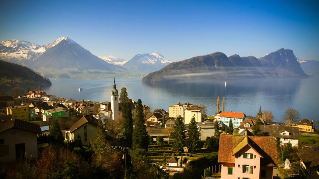 Lucerne Lake in Geneva, Switzerland.