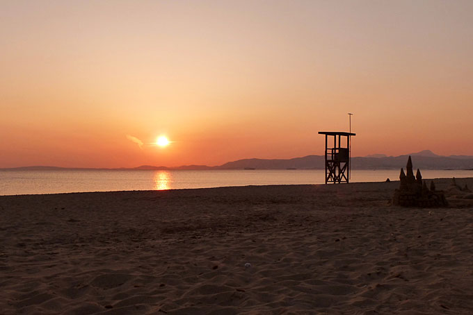 sunset on a Majorca beach