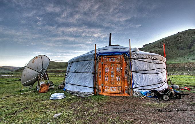 Hut in Mongolia.