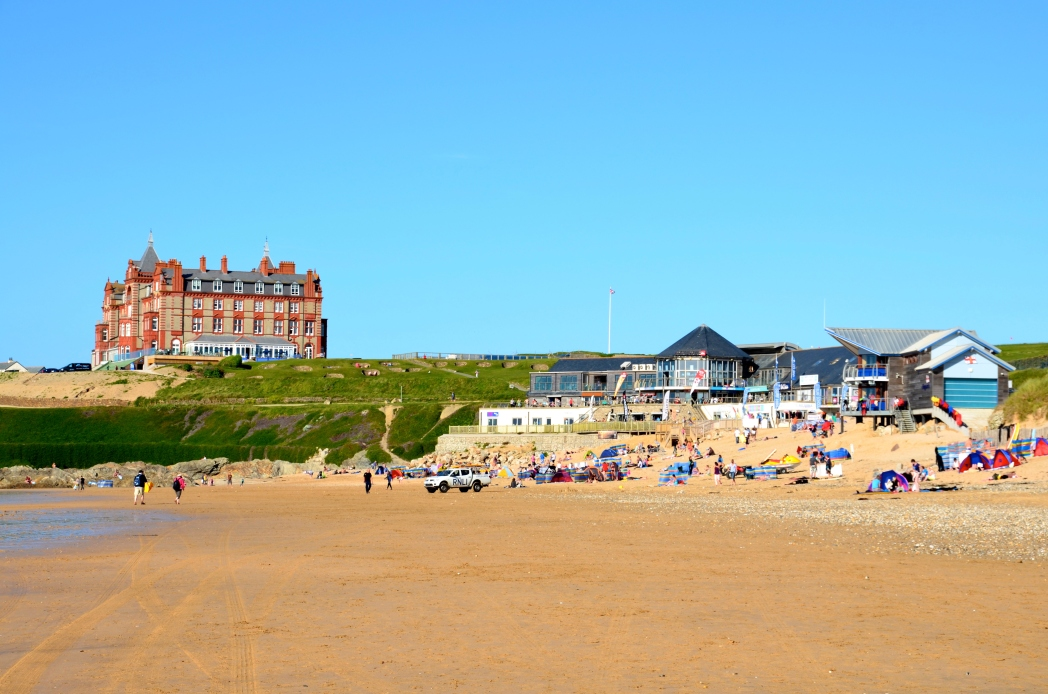 The Headland Hotel overlooking Fistral Beach, Newquay