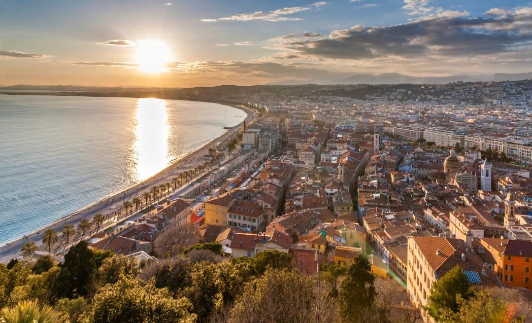 Winter in Nice, France