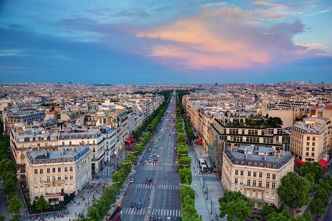 Sip coffee, eat croissants and watch the world go by on the Champs-Élysées.