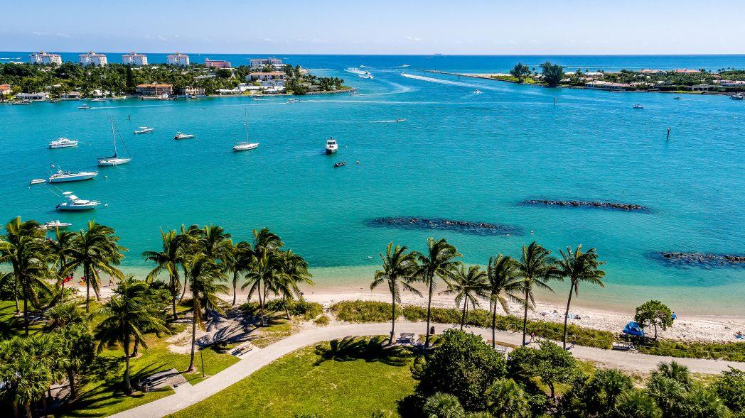 Peanut Island beach, Palm Beach, US