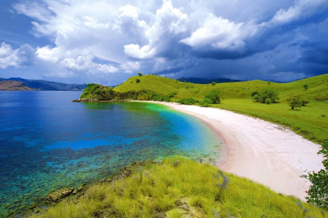 Pink Beach, one of Komodo Island's most popular beaches