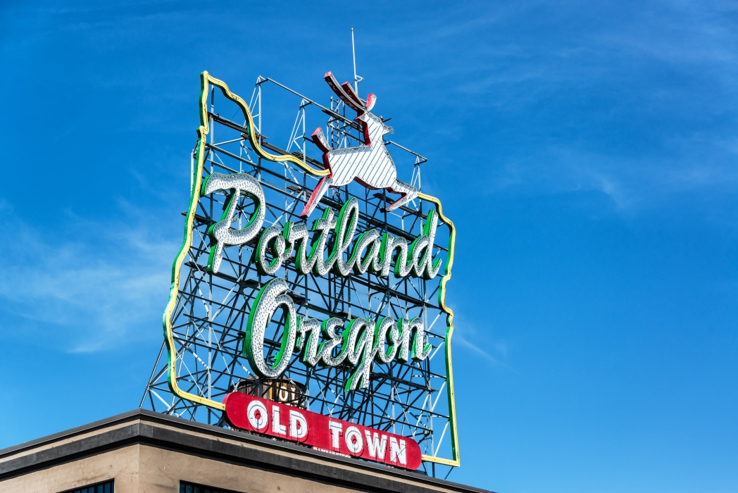 Sign for Portland Old Town