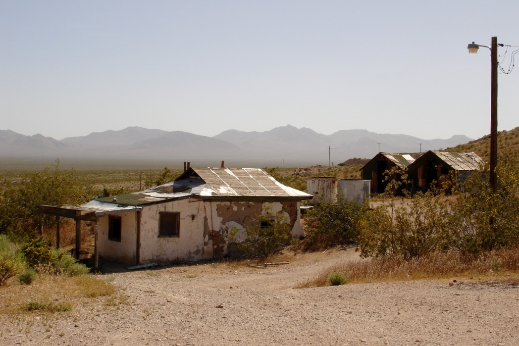 Rhyolite, abandoned buildings in the desert