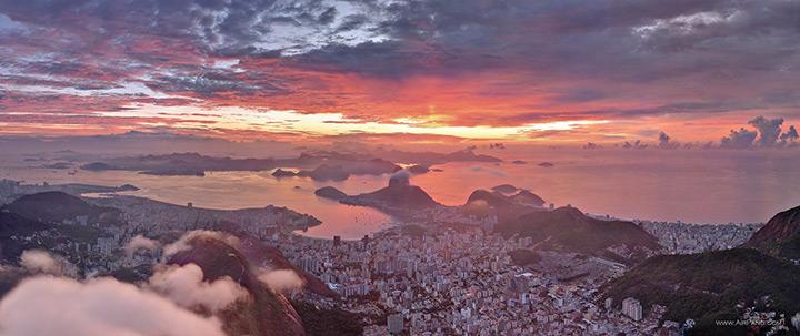 Aerial view, Rio de Janeiro, Brazil