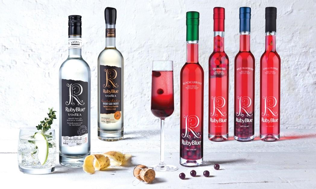 RubyBlue Potato Vodkas and Liqueurs